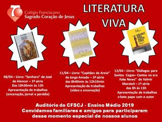 CONVITE - LITERATURA VIVA 2019