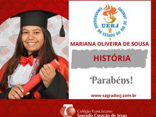 HISTÓRIA - UERJ   MARIANA OLIVEIRA DE SOUSA