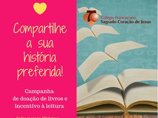 Campanha de doação de livros e de incentivo à leitura