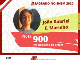 JOÃO GRABRIEL EVANGELISTA MARINHO Nota 900 na Redação do ENEM/2020