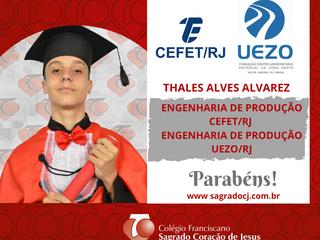 ENGENHARIA DE PRODUÇÃO-CEFET/RJ   ENGENHARIA DE PRODUÇÃO - UEZO/RJ  THALES ALVES ALVAREZ