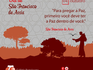 OUTUBRO MÊS DE SÃO FRANCISCO DE ASSIS