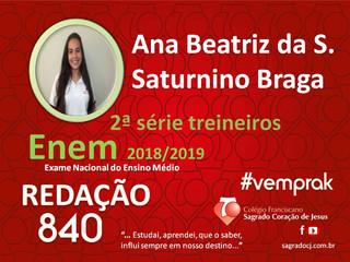 "TREINEIROS ENEM 2018-2019                         ""ANA BEATRIZ DA S. SATURNINO BRAGA"""