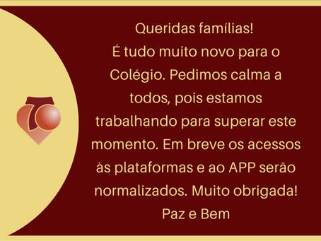 COMUNICADO AOS PAIS - MOMENTO DE ESTUDOS EM CASA