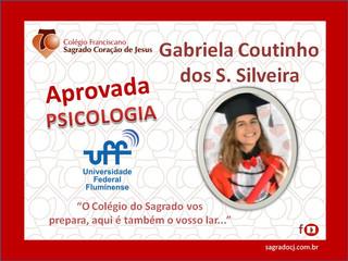 """APROVADA EM PSICOLOGIA UFF """"GABRIELA COUTINHO DOS S. SILVEIRA"""""""