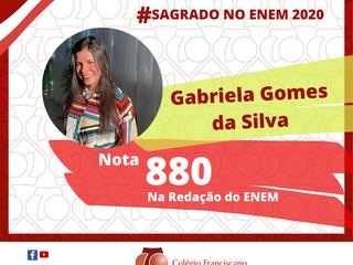 GABRIELA GOMES DA SILVA Nota 880 na Redação do ENEM/2020