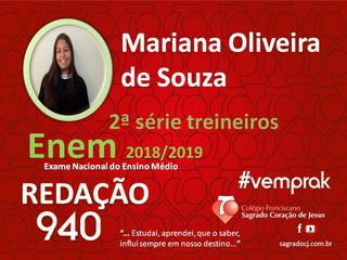 """TREINEIROS ENEM 2018-2019                         """"MARIANA OLIVEIRA DE SOUZA"""""""