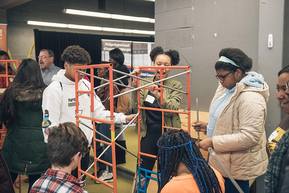 MLTAI mini-scaffolding building activity