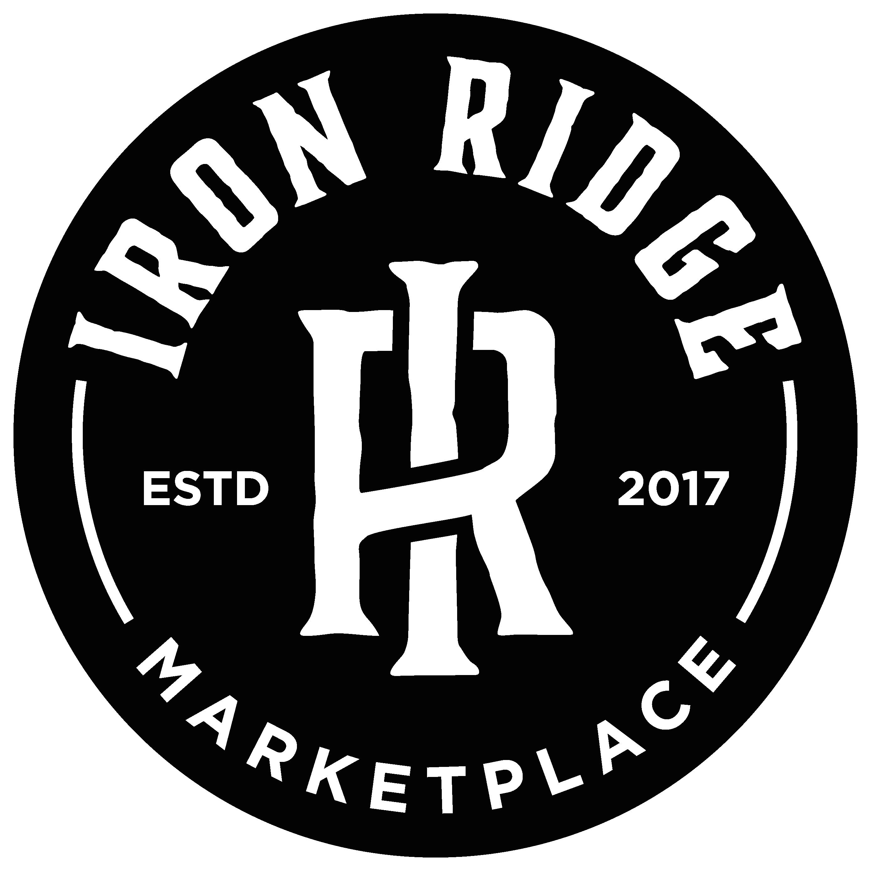 IRON RIDGE - Black logo on white backgro