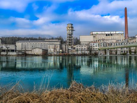 Die verlassene Zellulosefabrik