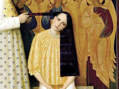 """Separation of the braid"", óleo sobre lienzo (1997)"