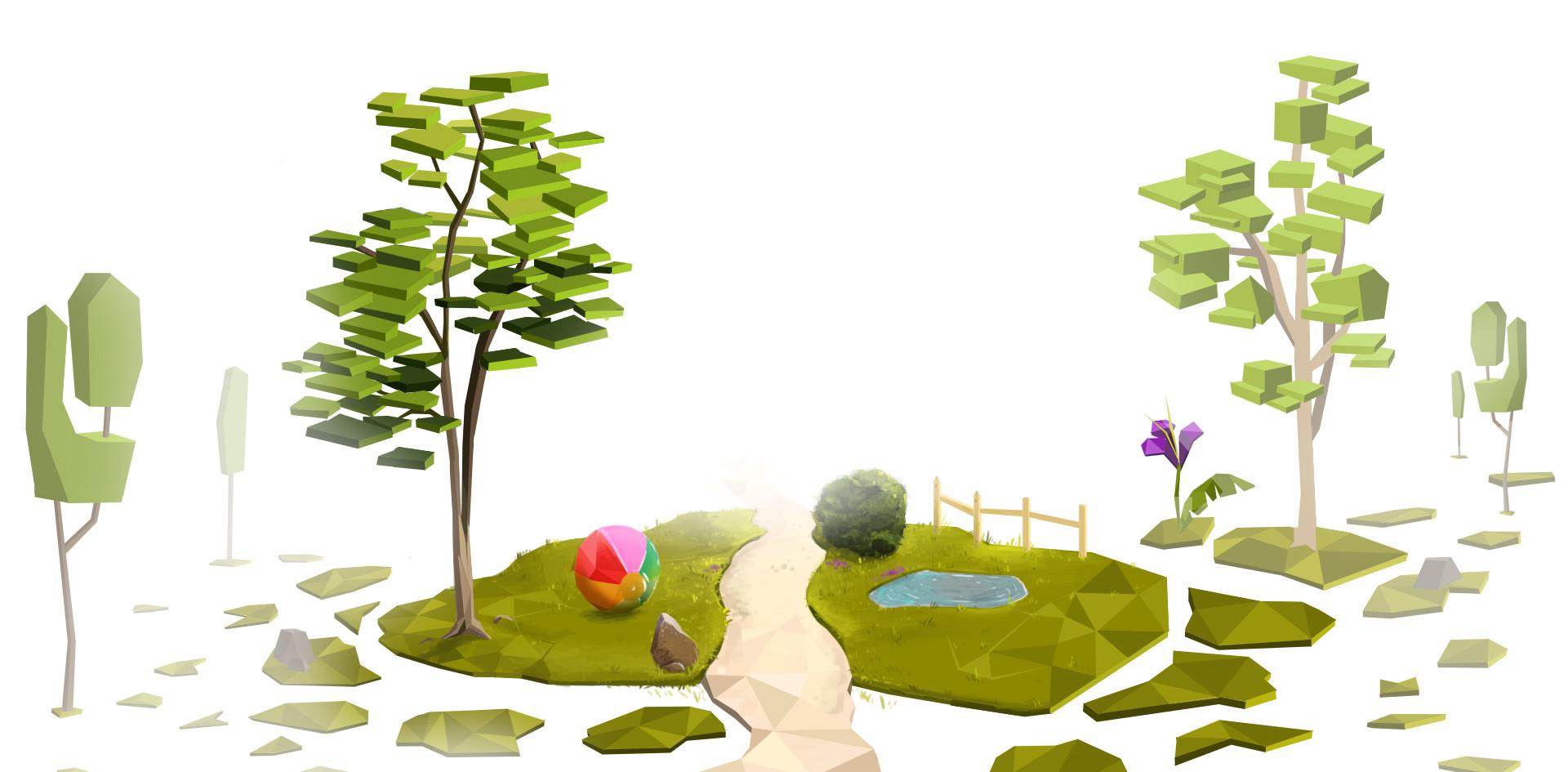 Concept Art - Niveau entrée du parc