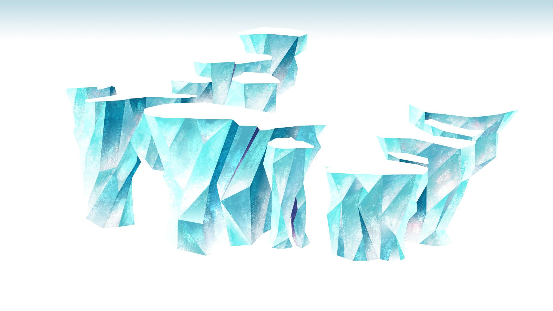 Concept décors Low poly Glace