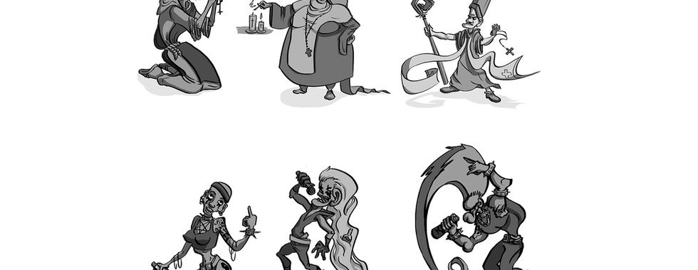 Personnages style cartoon