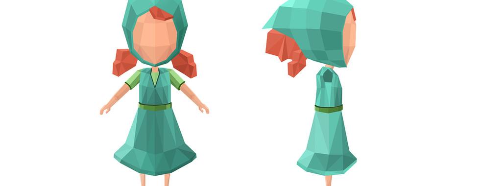 Concept Art - Petite fille 2