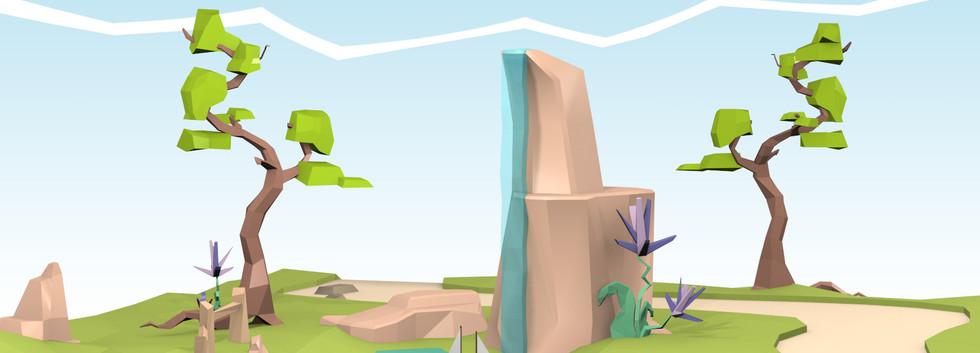Parc Low Poly - 3DS Max