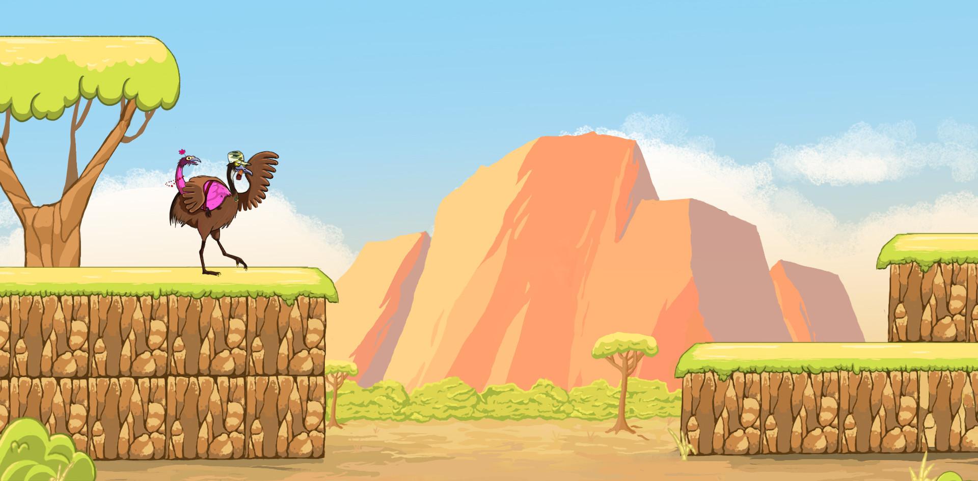 Concept Art - Petit jeu 2D en Australie