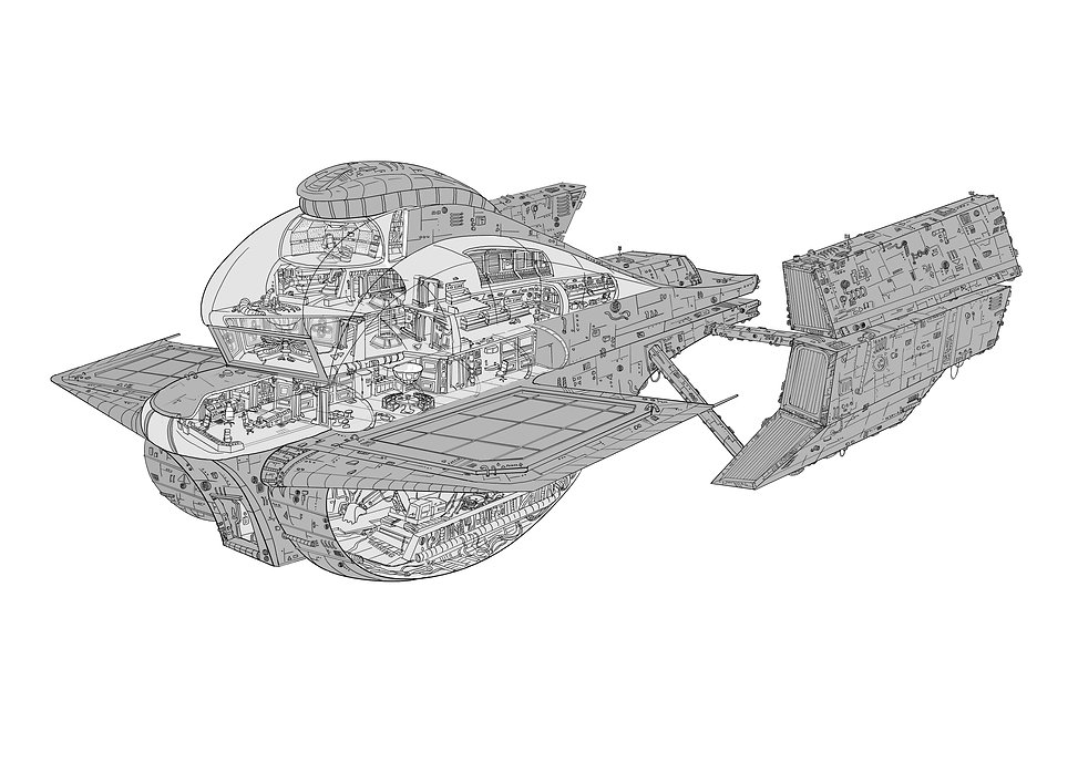 concept level design romane bouverot spaceship alien