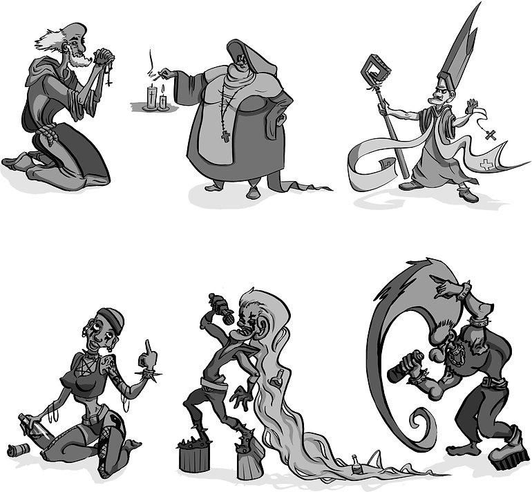 character design romane bouverot funny lyon metal eglise