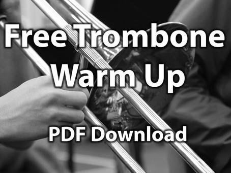 Free trombone warm up pdf (early intermediate players)