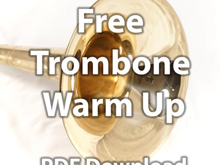 Free beginner trombone warm up
