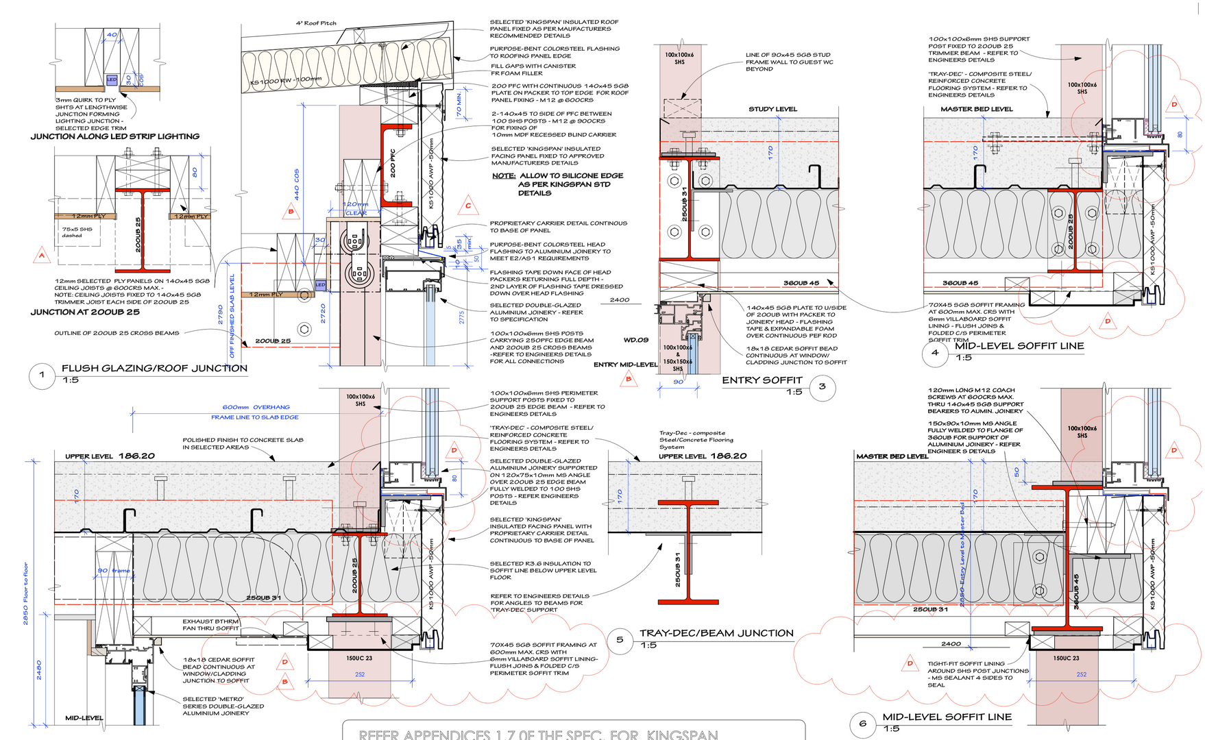 Kingspan, Concrete & Steel House Drawings