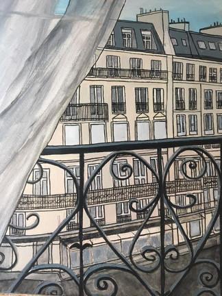 """""""Aftenstund på balkonen"""" By Stine Reintoft"""