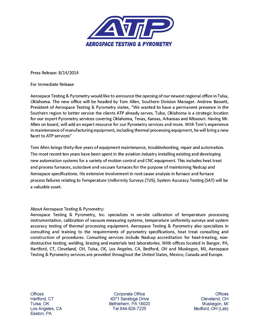 Press Release-Southern Division 8-18-14.