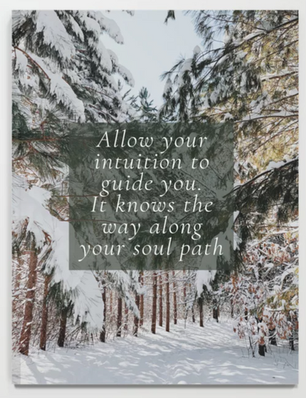 Allow your intuition to guide you. It knows the way along your soul path