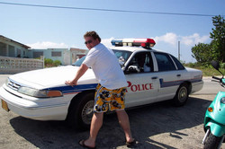 Chip being arrest at Cayman Pain mtg