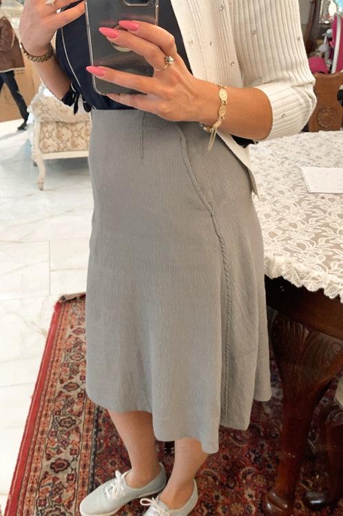 חצאית A אפור כיסים