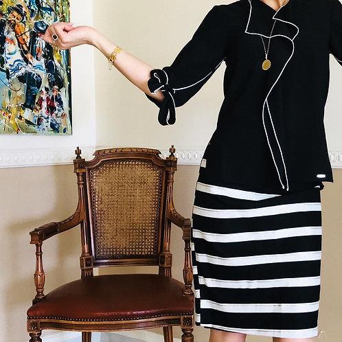 חצאית ריבס פסים שחור