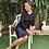 Thumbnail: חצאית ברוקארד שחור  ג'רסי