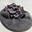 Thumbnail: ברט אפור בורדו פרח מסולסל