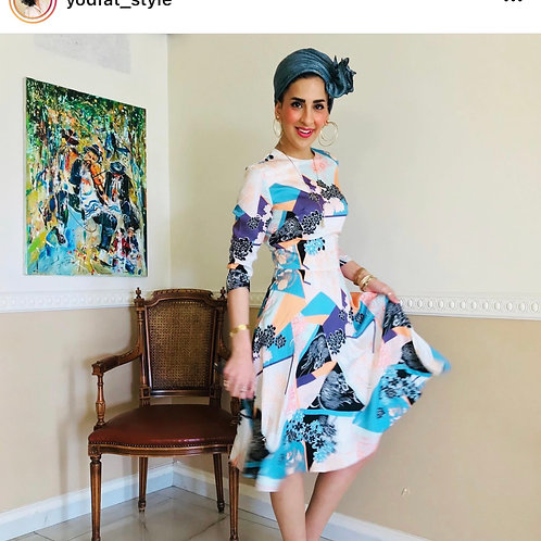 שמלה טקסטורה משי