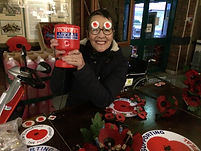 Liz poppy selling at Morrisons Nov 4 201