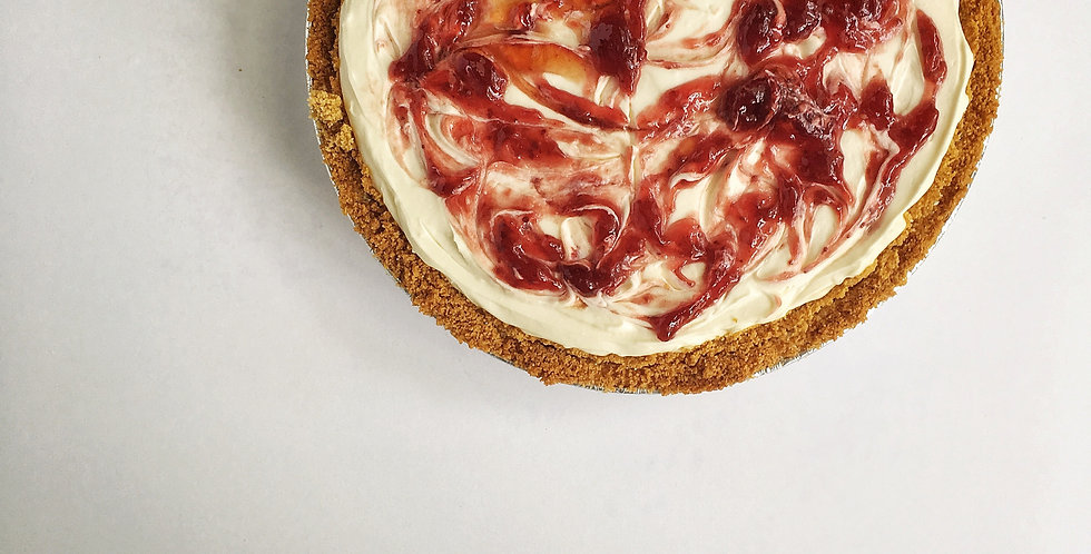Jammy Strawberry Cheesecake Pie