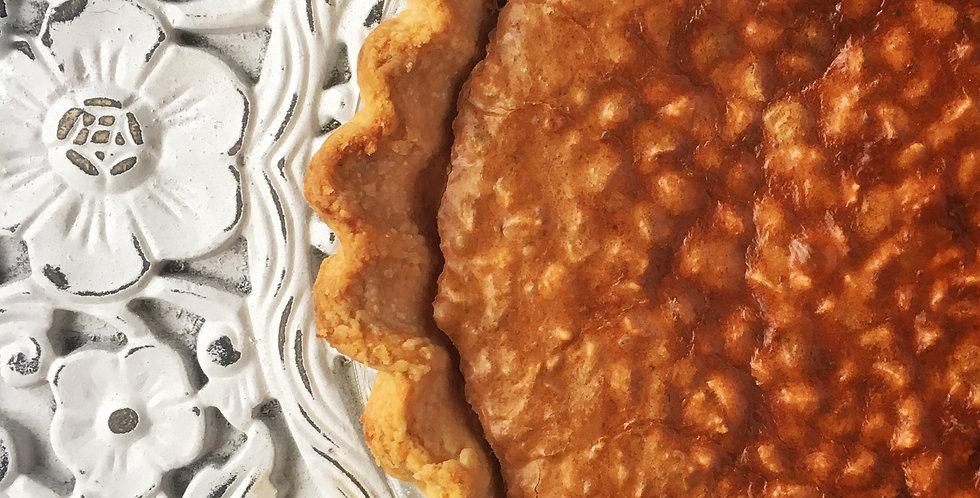 Chocolate Malted Hazelnut Pie