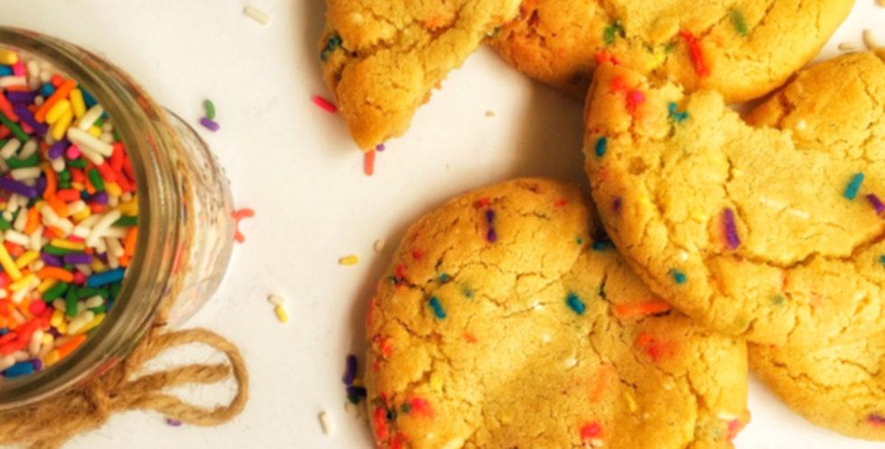 Frosting-Stuffed Funfetti Cookies