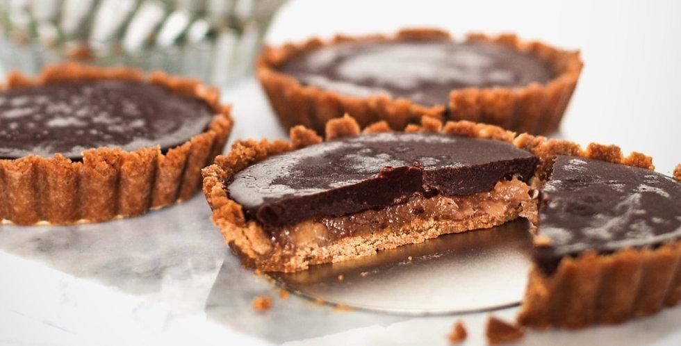 Chocolate Tahini & Jammy Fruit Tart