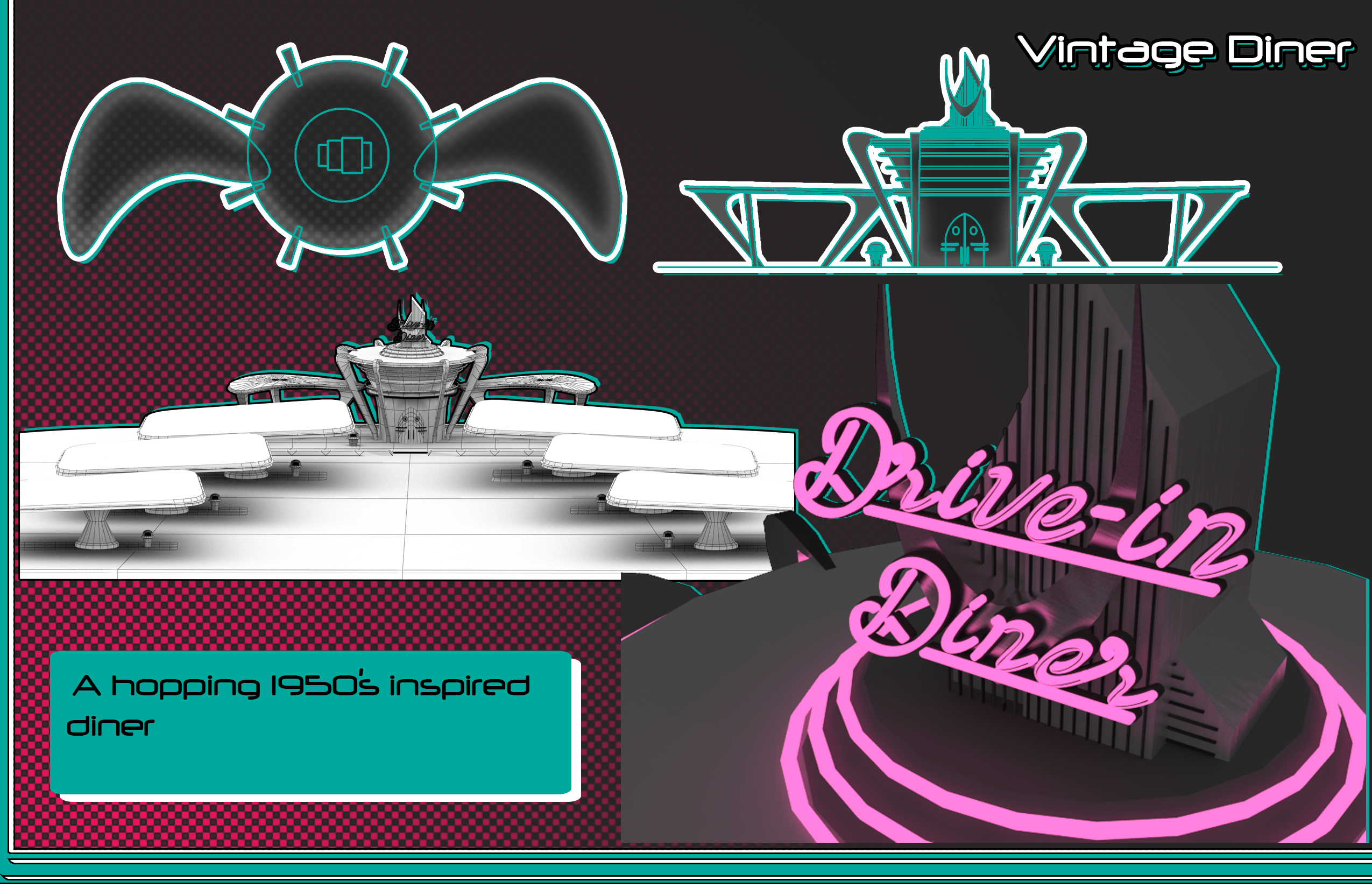Vintage Drive-in Diner Process