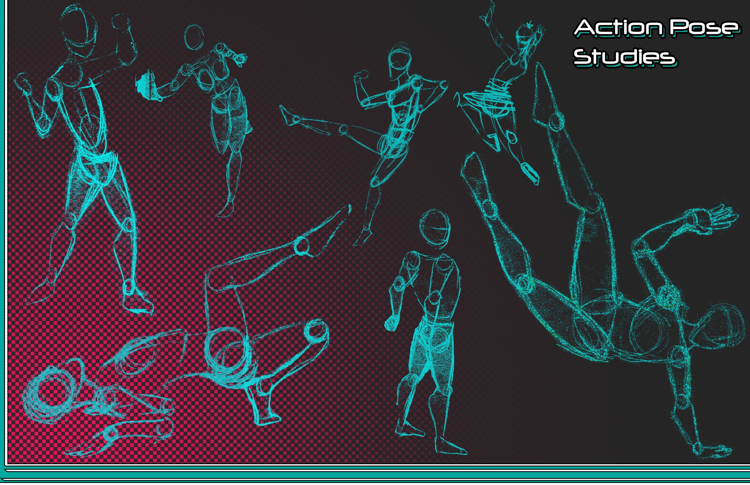 Action pose studies