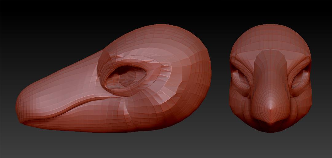 Raptor Head (Zbrush)