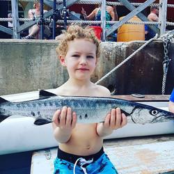 Barbados kids fishing