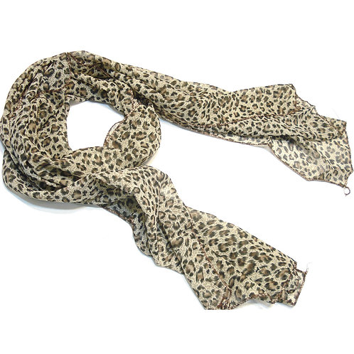 Foulard Léopard,long foulard motif léopard,tenue léopard,