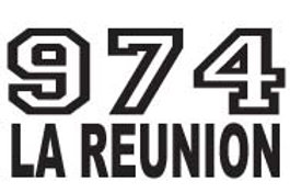 Autocollant Stickers  île de la Réunion all star 974