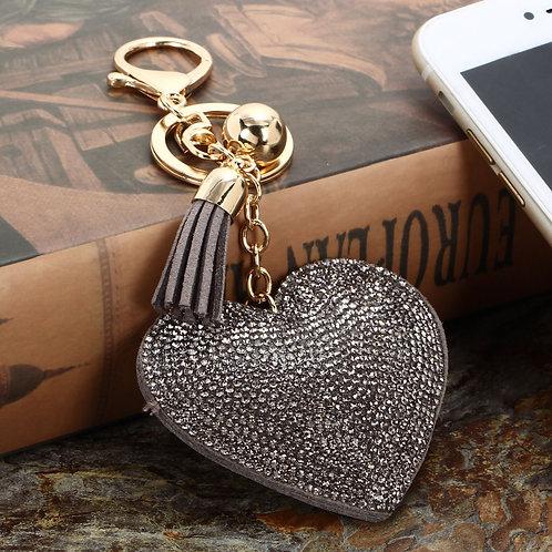 Porte clefs cœur, bijou de sac cœur ,porte clefs strass,porte clefs amour,