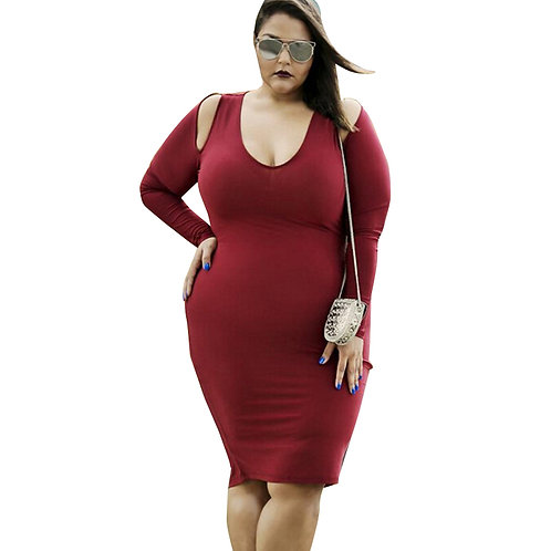 Robe stretch grande taille,robe été,robe rouge grande taille,