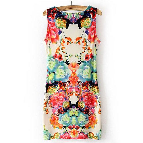 mini robe légère,robe motif floral,robe courte floral,robe sexy,