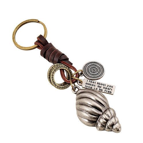 Porte clefs coquillage,bijou de sac original,porte clefs original,